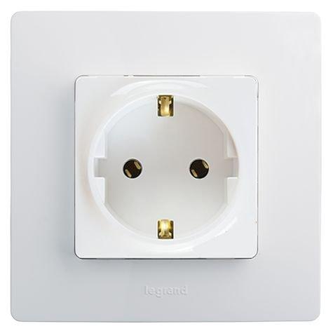 Розетка электрическая на винтах 672221 Legrand Etika белый – купить ... 3aa80d1b43b